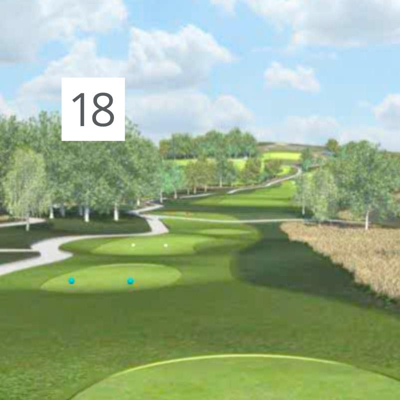 Parcours Golf Château-Bomont - 18